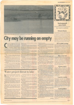 City May be running on Empty, DR Lewis South 1991